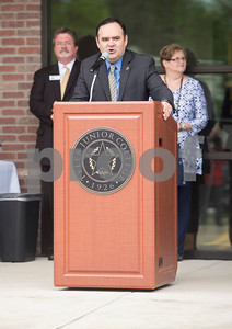 Tyler Junior College Provost and Vice President for Academic and Student Affairs Juan Mejia speaks during the grand opening of TJC North Campus at The Cannery development in Lindale on Tuesday March 29, 2017. The 8,500 square-foot campus will host general education courses, nursing programs and the school's new veterinary technician program.  (Sarah A. Miller/Tyler Morning Telegraph)