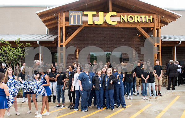 Tyler Junior College students, Lindale High School students and city officials attend the grand opening of TJC North Campus at The Cannery development in Lindale on Tuesday March 29, 2017. The 8,500 square-foot campus will host general education courses, nursing programs and the school's new veterinary technician program.  (Sarah A. Miller/Tyler Morning Telegraph)