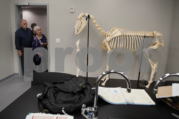 Visitors tour the TJC North Campus at The Cannery development in Lindale during its grand opening on Tuesday March 29, 2017. The 8,500 square-foot campus will host general education courses, nursing programs and the school's new veterinary technician program.  (Sarah A. Miller/Tyler Morning Telegraph)