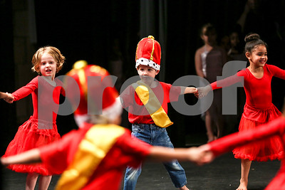 "Students perform ""Rose Festival Ball"" during the Caldwell Dance Showcase at Caldwell Auditorium in Tyler, Texas, on Thursday, March 9, 2017. Over 600 elementary students, their teachers and a few surprise guests performed during the program, which was themed ""In The News."" (Chelsea Purgahn/Tyler Morning Telegraph)"