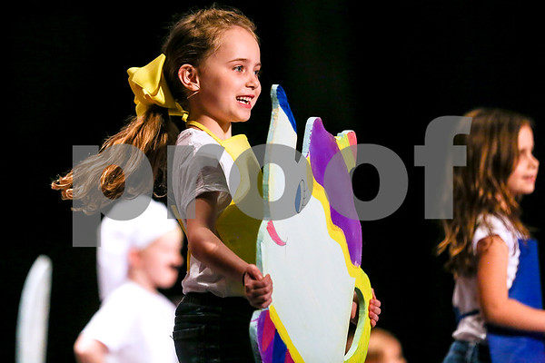 "A student performs ""Be Our Guest"" during the Caldwell Dance Showcase at Caldwell Auditorium in Tyler, Texas, on Thursday, March 9, 2017. Over 600 elementary students, their teachers and a few surprise guests performed during the program, which was themed ""In The News."" (Chelsea Purgahn/Tyler Morning Telegraph)"