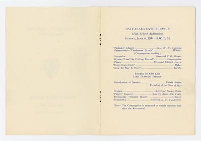 VHS 1954 Graduation Program 002