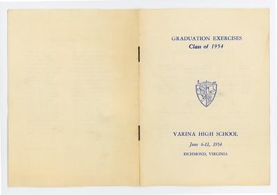 VHS 1954 Graduation Program 001