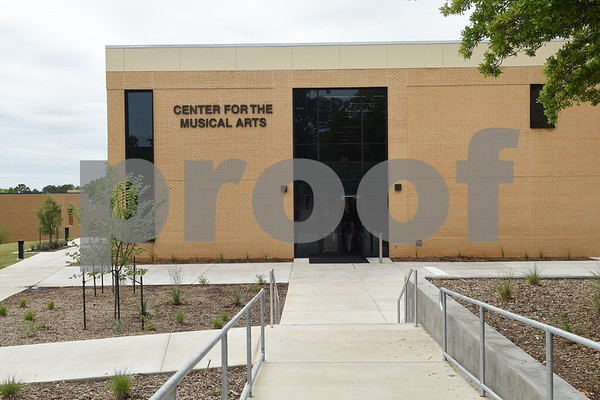 The Center for the Musical Arts, a $6.5 million two-story addition, houses band/orchestra and choir practice rooms, teaching studios and faculty offices at the University of Texas at Tyler.  (Sarah A. Miller/Tyler Morning Telegraph)