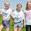 Mark Maynard | For The Herald Bulletin<br /> Katy Stillwell, Gabby Hosier and Kailyn Flowers show off their colors after completing the Alexandria My School Color Run on Saturday.