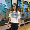 Upper School Art Club president junior Elizabeth Schoenbrunm 17, stands by the murals her club made that will be on display for the All Saints Episcopal School Student Art Exhibit Monday April 24, 2017. The art exhibit features pieces from all students grade 3K-12. It opens Tuesday at 6:30 p.m. at Brookshire Gym.<br /> <br /> (Sarah A. Miller/Tyler Morning Telegraph)