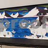 A mural made by members of the Upper School Art Club is on display for the All Saints Episcopal School Student Art Exhibit Monday April 24, 2017. The art exhibit features pieces from all students grade 3K-12. It opens Tuesday at 6:30 p.m. at Brookshire Gym.<br /> <br /> (Sarah A. Miller/Tyler Morning Telegraph)