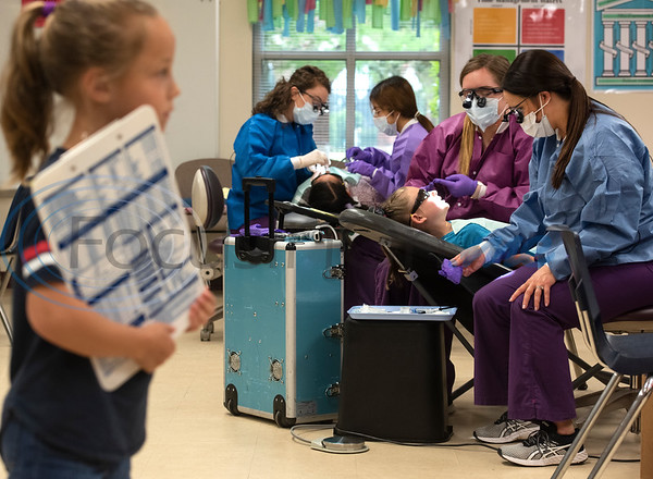 Tyler Junior College Dental Studies students give preventative dental care to students at Jack Elementary School on Monday April 29, 2019.  (Sarah A. Miller/Tyler Morning Telegraph)