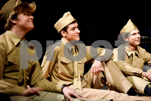 Students perform during a dress rehearsal for a USO anniversary show at Robert E. Lee High School in Tyler, Texas, on Wednesday, May 10, 2017. (Chelsea Purgahn/Tyler Morning Telegraph)