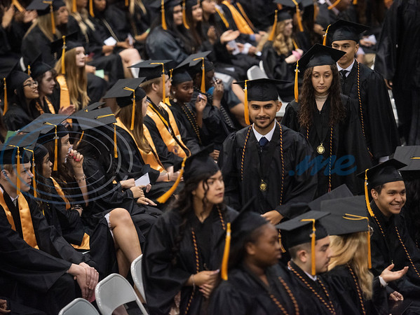 Tyler Junior College graduates participate in the commencement ceremony for Engineering, Math & Science departments plus all Early College graduates on Friday May 10, 2019.  (Sarah A. Miller/Tyler Morning Telegraph)