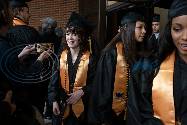 The first class of Early College High School graduates received their associates degrees from Tyler Junior College  at the commencement ceremony for Engineering, Math & Science departments on Friday May 10, 2019.   (Sarah A. Miller/Tyler Morning Telegraph)