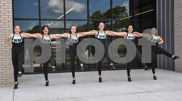 The Bishop Gorman dance team performs in front of the new Brodnax Family Crusader Center during the building's Blessing and Dedication. The Blessing and Dedication was performed by Bishop Joseph Strickland on Friday, May 11. (Jessica T. Payne/Tyler Paper)