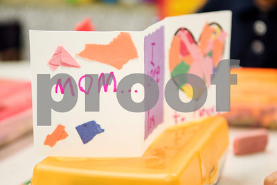 A kindergartener made this card for Mother's Day during class at Islamic Faith Academy in Tyler Tuesday May 9, 2017. Mother's Day in Sunday May 14.   (Sarah A. Miller/Tyler Morning Telegraph)