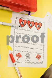 First graders filled out questionnaires about their mothers for Mother's Day during class at Islamic Faith Academy in Tyler Tuesday May 9, 2017. Mother's Day in Sunday May 14.   (Sarah A. Miller/Tyler Morning Telegraph)