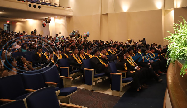 Graduates, friends, and family filled the Caldwell Auditiorium on Tuesday during the Alvin V. Anderson RISE Academy graduation ceremony. Sarah Perez/ Freelance