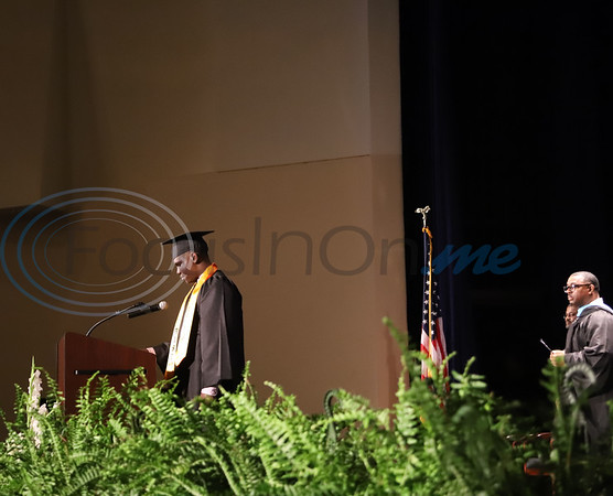 Graduate Joseph Brooks speaks at the Alvin V. Anderson RISE Academy graduation ceremony. Sarah Perez/ Freelance