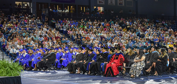 Friends and family filled the Herrington Patriot Center on Saturday, June 1 for the inaugural graduation of the UT Tyler University Academy. The Academy is comprised of 3 campuses including Longview, Palestine and Tyler and had a total of 42 graduates. (Jessica T. Payne/Tyler Morning Telegraph)