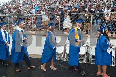 John Tyler High School graduates enter Trinity Mother Frances Rose Stadium for their commencement ceremony Friday June 3, 2016.  (Sarah A. Miller/Tyler Morning Telegraph)