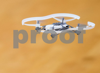 A miniature drone takes flight during Drone Adventures, a summer camp held at Tyler Junior College on Wednesday June 6, 2018. Drone Adventures will be held again from July 16-20.  (Sarah A. Miller/Tyler Morning Telegraph)