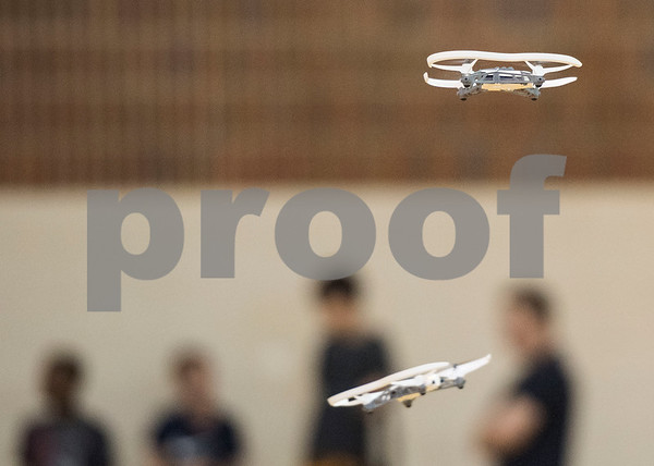 Miniature drones take flight during Drone Adventures, a summer camp held at Tyler Junior College on Wednesday June 6, 2018. Drone Adventures will be held again from July 16-20.  (Sarah A. Miller/Tyler Morning Telegraph)