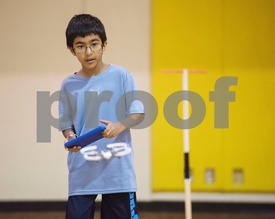 Raj Kumar, 7, uses an app on a tablet to fly a miniature drone during Drone Adventures, a summer camp held at Tyler Junior College on Wednesday June 6, 2018. Drone Adventures will be held again from July 16-20.  (Sarah A. Miller/Tyler Morning Telegraph)