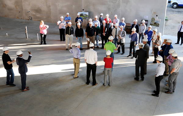 Don Knight | The Herald Bulletin<br /> Stakeholders toured the new Purdue Polytechnic Institute project on Thursday. The project is on schedule to open in January.