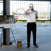 Don Knight | The Herald Bulletin<br /> Matt Yates with KRM talks about the Purdue Polytechnic Institute during a tour of the project on Thursday. The 90,000-square-foot project will include 30,000 square feet for academic programs through Purdue and the remaining space for micro factories and a Maker Space for start-up companies