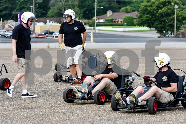 Shriner members from Tyler prepare to compete in an event during the Shriners Convention at Harvey Convention Center in Tyler, Texas, on Friday, June 8, 2018. (Chelsea Purgahn/Tyler Morning Telegraph)