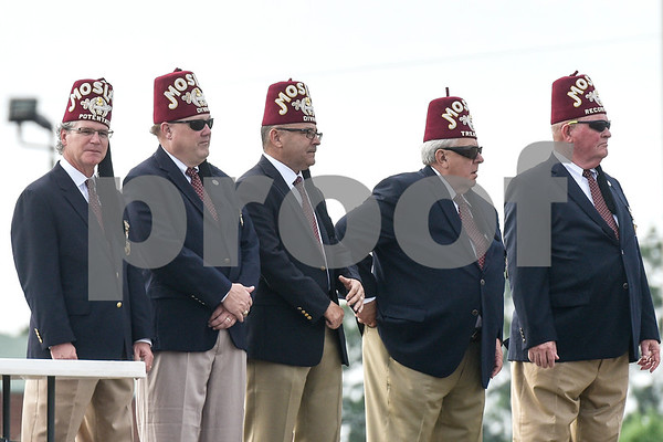Shriner members judge an event during the Shriners Convention at Harvey Convention Center in Tyler, Texas, on Friday, June 8, 2018. (Chelsea Purgahn/Tyler Morning Telegraph)