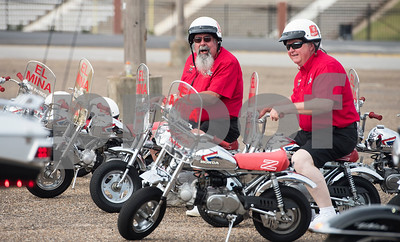Mini motorcycles from the El Mina Shrine in Galveston are pictured during the Texas Shriner Association convention held in Tyler at Harvey Convention Center on Friday June 8, 2018.  (Sarah A. Miller/Tyler Morning Telegraph)