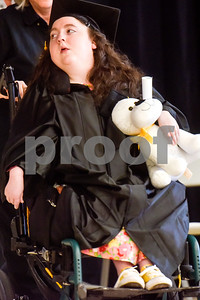 Victoria Sierra Davenport receives her diploma during a graduation ceremony at Wayne D. Boshears Center for Exceptional Programs School in Tyler, Texas, on Thursday, July 19, 2018. (Chelsea Purgahn/Tyler Morning Telegraph)