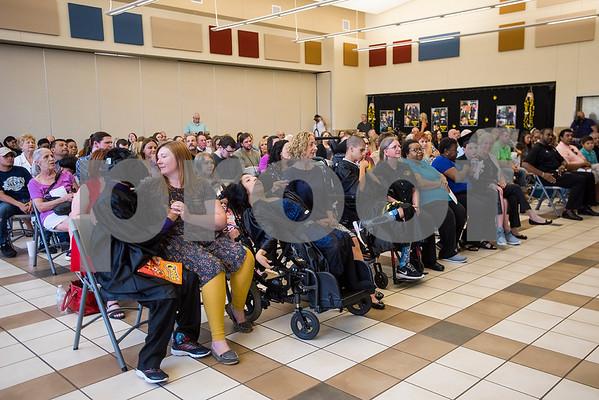 A graduation ceremony for Wayne D. Boshears Center for Exceptional Programs at Wayne D. Boshears Center in Tyler, Texas, on Thursday, July 20, 2017. Five students graduated from the program. (Chelsea Purgahn/Tyler Morning Telegraph)