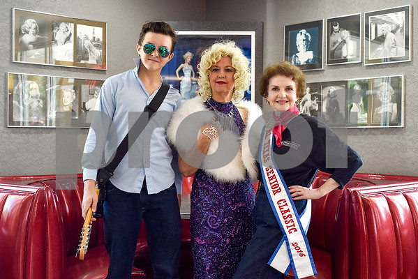 Cameron Rix, 16, Marilyn Johnston, and Jo Anne McMeans pose for a photo during a Ms. Texas Senior Classic Pageant lunch at Whataburger in Tyler, Texas, on Friday, July 21, 2017. The pageant will take place in September. (Chelsea Purgahn/Tyler Morning Telegraph)