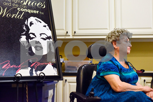 Evelyn Godden listens during interview practice for the Ms. Texas Senior Classic Pageant at Prestige Estates in Tyler, Texas, on Friday, July 21, 2017. The pageant will take place in September. (Chelsea Purgahn/Tyler Morning Telegraph)