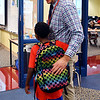 On first day of school at Eastside Elementary School third grade teacher Brett Yoder welcomes a student back to school.