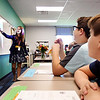 John P. Cleary | The Herald Bulletin<br /> First-year teacher Jenny Miller conducts her fifth-grade class on the first day of school at Anderson Intermediate School. Fresh out of college Miller said she always wanted to be an educator.