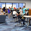 John P. Cleary | The Herald Bulletin<br /> ACS first day of school at Anderson Intermediate School where students check out the new library.