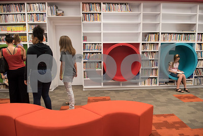 Parents and students tour the Collaboratory, a new interactive learning space at the All Saints Episcopal School Lower School Tuesday Aug. 15, 2017.  (Sarah A. Miller/Tyler Morning Telegraph)