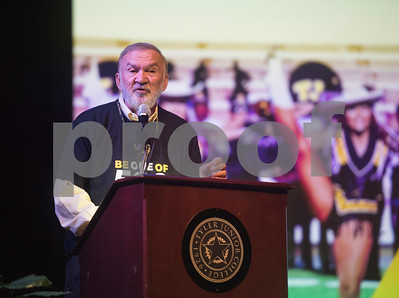 Tyler Junior College President Dr. Mike Metke welcomes TJC employees and gives an overview of the year ahead during the annual fall convocation Tuesday, Aug. 15, 2017 at Wise Auditorium.  (Sarah A. Miller/Tyler Morning Telegraph)