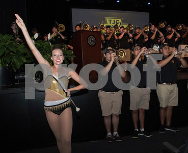 The Tyler Junior College Apache marching band performs during the annual fall convocation Tuesday, Aug. 15, 2017 at Wise Auditorium.  (Sarah A. Miller/Tyler Morning Telegraph)