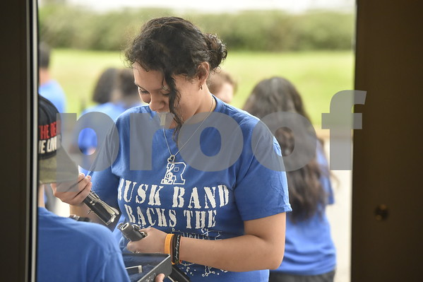 Rusk High School Band Back the Blue