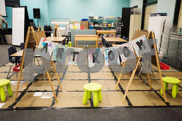The art room is pictured at Promise Academy, a private Christian school in Tyler on the first day of school on Thursday Aug. 23, 2018. The school has a new location inside the Boys and Girls Club building, 504 W. 32nd Street.  (Sarah A. Miller/Tyler Morning Telegraph)