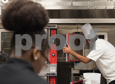 Joseph Guzzetta teaches his students how to clean the steamer on the third day of school at the Tyler ISD Career and Technology Center Wednesday Aug. 30, 2017. Tyler ISD currently offers an introductory to culinary arts and a practicum of culinary arts course at the Career and Technology Center. Tyler may get its first college level culinary arts program when the Tyler Junior College board of trustees meet on Thursday.  (Sarah A. Miller/Tyler Morning Telegraph)
