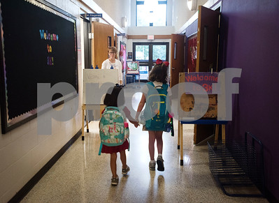 Students walk to their classrooms on the first day of school at All Saints Episcopal School on Thursday Aug. 16, 2018.   (Sarah A. Miller/Tyler Morning Telegraph)