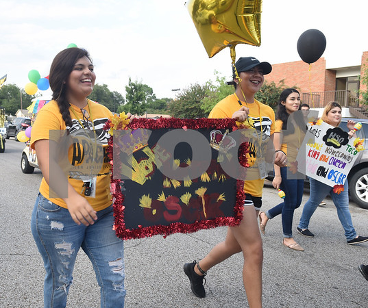 Students participate in the Homecoming parade Thursday evening Sept. 15, 2016 on the campus of Tyler Junior College. TJC is celebrating its 90th year.   (Sarah A. Miller/Tyler Morning Telegraph)