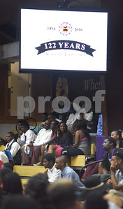Texas College student attend the Fall 2016 Opening School Convocation Wednesday Sept. 21, 2016 at the Gus F. Taylor Gymnasium. The annual event celebrates the incoming freshman class.  (Sarah A. Miller/Tyler Morning Telegraph)