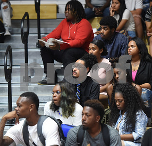 Texas College students attend the Fall 2016 Opening School Convocation Wednesday Sept. 21, 2016 at the Gus F. Taylor Gymnasium. The annual event celebrates the incoming freshman class.  (Sarah A. Miller/Tyler Morning Telegraph)