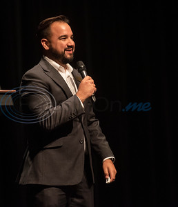 TJC Promise Director Matthew Ramirez speaks at the signing ceremony for the TJC Promise at Winona High School school on Sept. 30, 2019.  (Sarah A. Miller/Tyler Morning Telegraph)