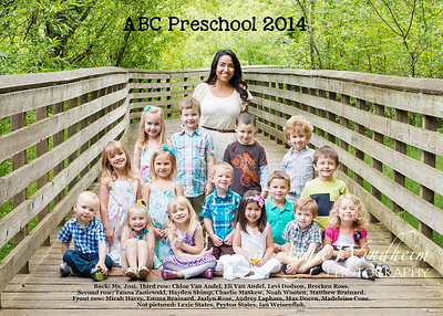 ABC Preschool 2014b names