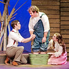 Mark Maynard | for The Herald Bulletin<br /> C. C. Showers (Samuel Lynch) and Jennie Mae Layman (Juli Biagi) successfully coax her brother, Buddy (Isaac Derkach) who is deathly afraid of water, to finally bathe his severly itching feet.